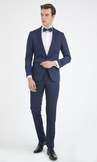 SAYKI Men's Slim Fit Navy Single Breasted Tuxedo-SAYKI MEN'S FASHION