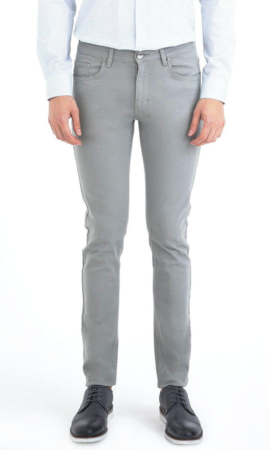 SAYKI Men's Slim Fit Grey Monaco Jeans