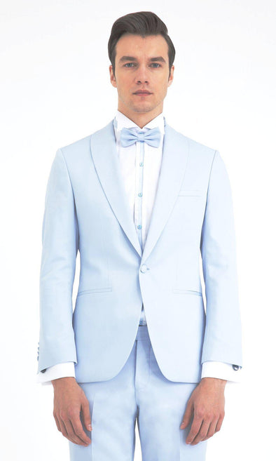 Ice Blue Slim Fit Tuxedo