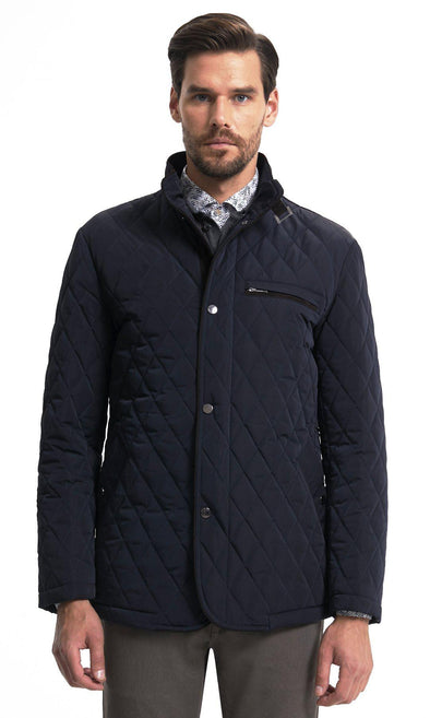 SAYKI Men's Fashion Nebraska Navy Coat