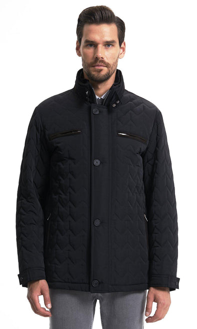 Sayki Mens Pes Buttoned Coat Black / L Default