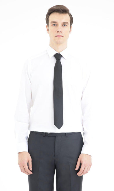 SAYKI Men's Regular Fit White Cotton Shirt-SAYKI MEN'S FASHION