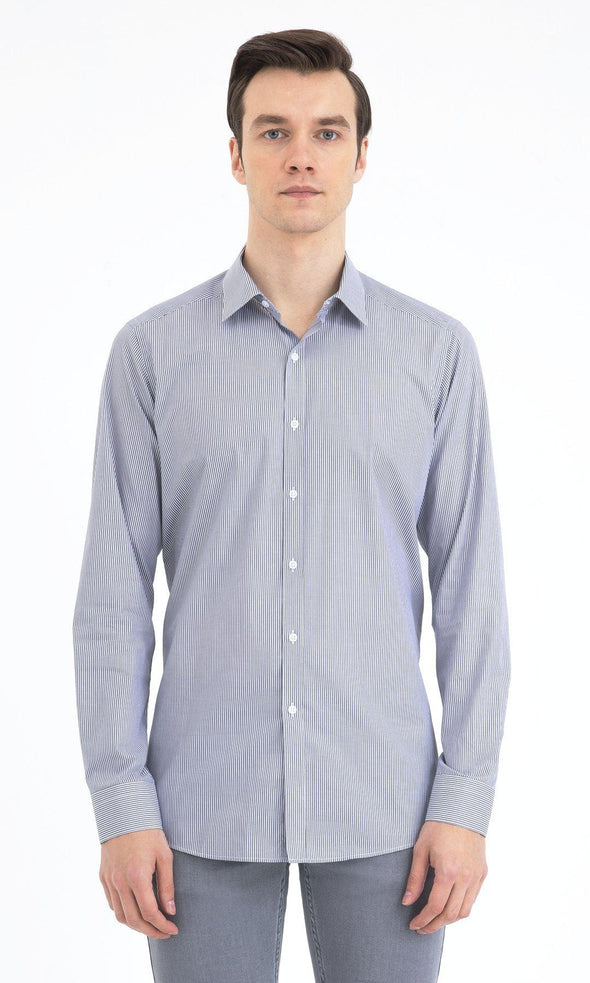 SAYKI Men's Regular Fit Grey Cotton Shirt-SAYKI MEN'S FASHION
