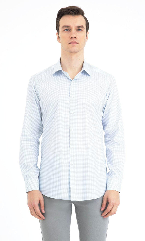 SAYKI Men's Regular Fit Light Blue Cotton Shirt-SAYKI MEN'S FASHION