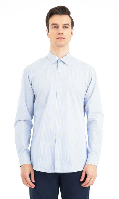 SAYKI Men's Regular Fit Classic Collar Cotton Shirt