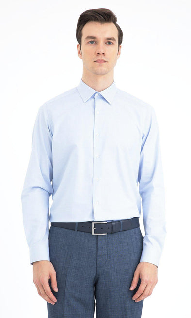 SAYKI Men's Regular Fit Cutaway Collar Cotton Shirt-SAYKI MEN'S FASHION