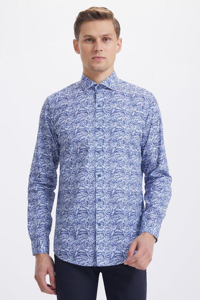 SAYKI Men's Casual Cotton Shirt-SAYKI MEN'S FASHION
