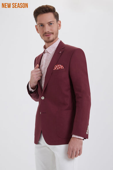 Sayki Men's Brick Red Blazer