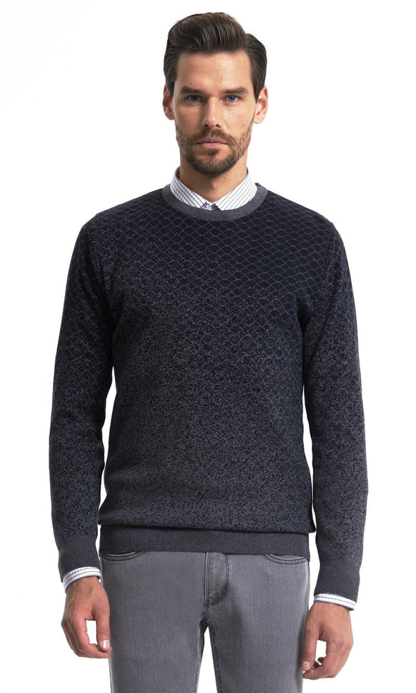 SAYKI Men's Crewneck Charcoal Sweatshirt-SAYKI MEN'S FASHION