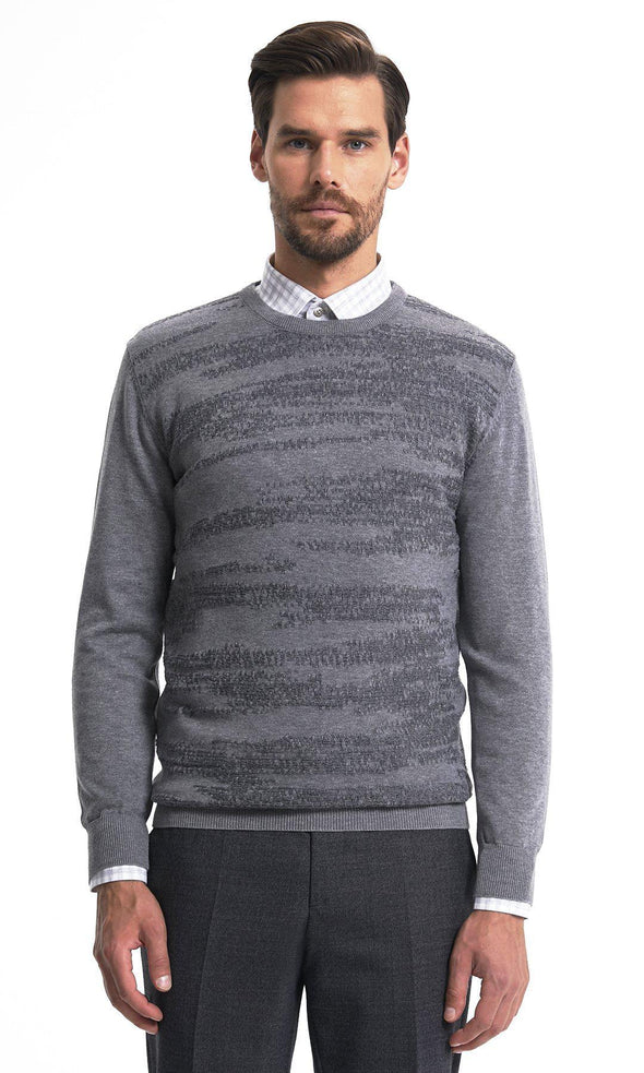 SAYKI Men's Crewneck Grey Sweatshirt-SAYKI MEN'S FASHION
