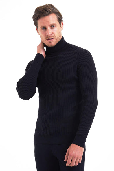 SAYKI Men's Turtleneck Sweater-SAYKI MEN'S FASHION