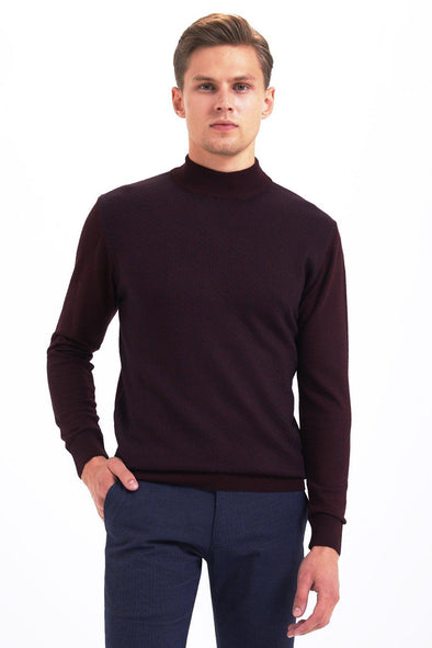 SAYKI Men's Mock Neck Sweatshirt-SAYKI MEN'S FASHION