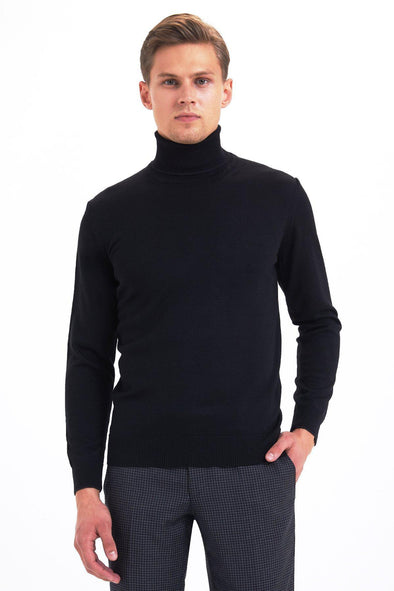 SAYKI Men's Turtleneck Sweatshirt-SAYKI MEN'S FASHION