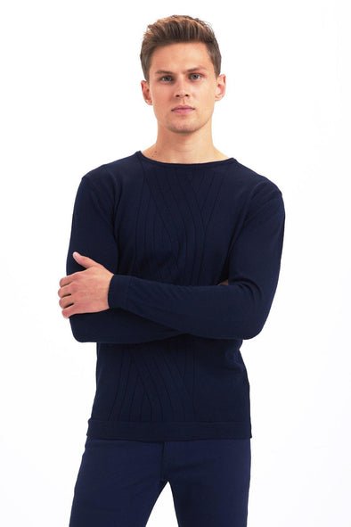 SAYKI Men's Crewneck Sweatshirt-SAYKI MEN'S FASHION