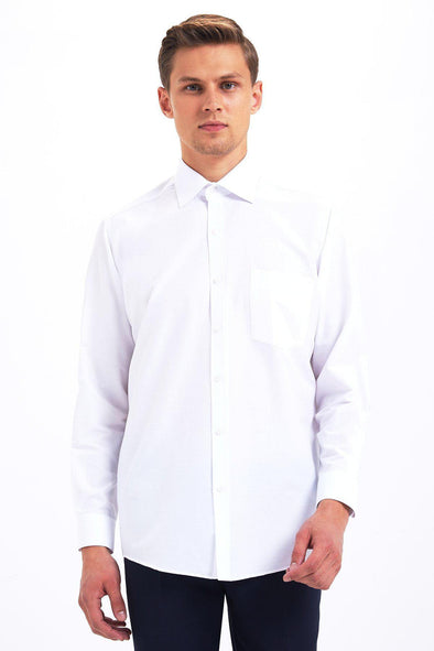 SAYKI Men's Classic Fit White Shirt-SAYKI MEN'S FASHION