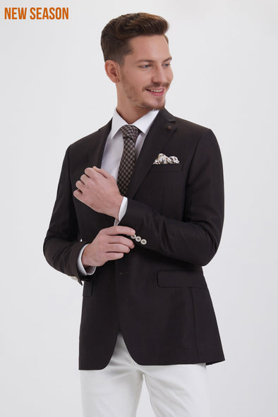 DARK BROWN SLIM FIT BLAZER