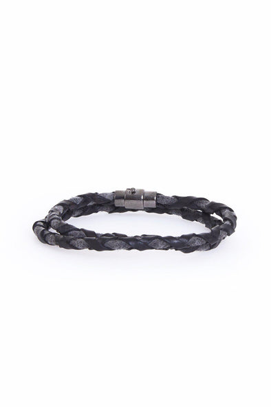 HS 18005 Leather Wristband 100 % Leather-SAYKI MEN'S FASHION