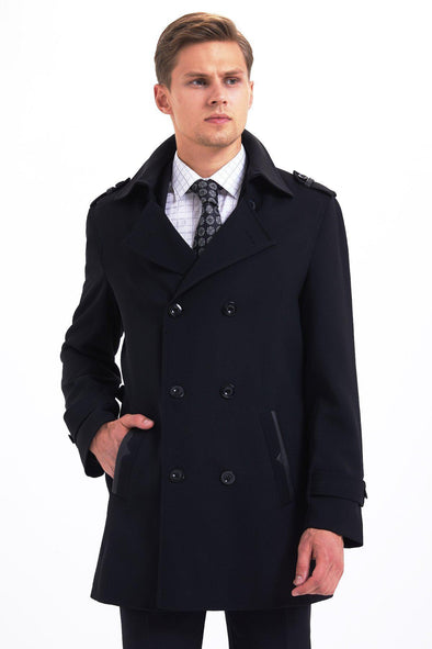 SAYKI Men's Versus Black Wool Overcoat-SAYKI MEN'S FASHION
