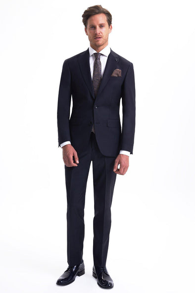 SAYKI Men's Bocelli Slim Fit Single Breasted Dark Navy Suit-SAYKI MEN'S FASHION