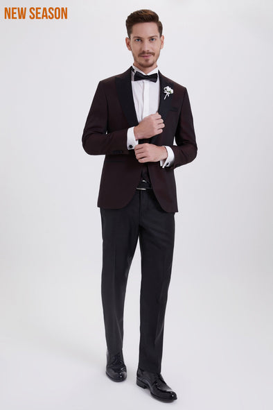 SAYKI Men's Brunello Slim Fit Single Breasted Tuxedo
