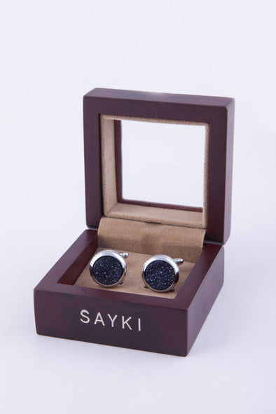 SAYKI Men's Natural Stone Cufflinks