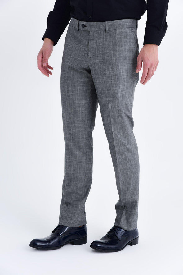 SAYKI Men's Slim Fit Grey Classic Pants