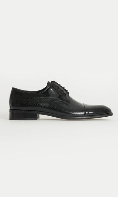 SAYKI Men's Classic Neolith Leather Black Shoes