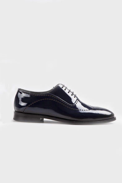 SAYKI Men's Patent Leather Shoes