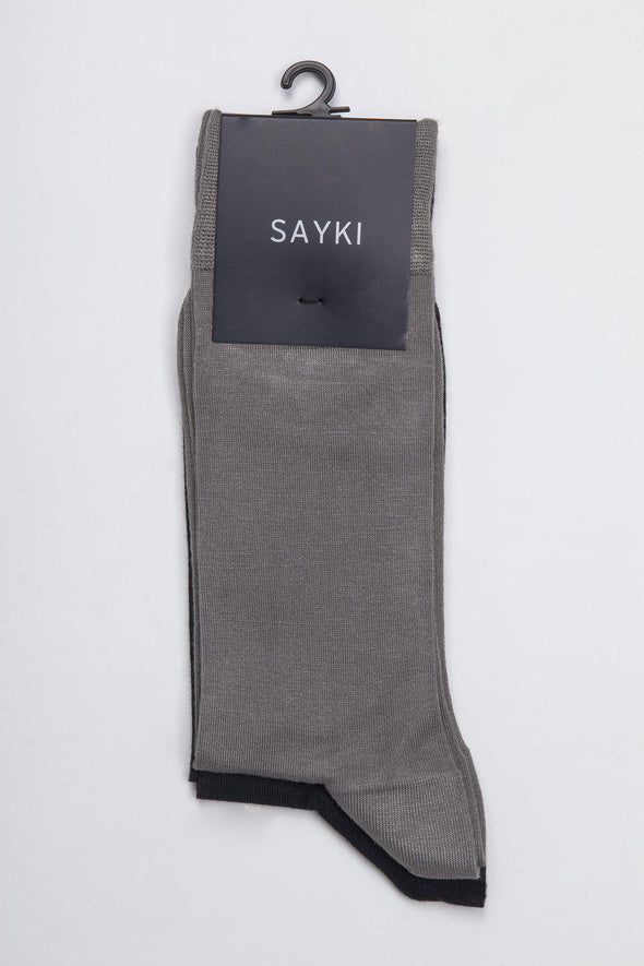 Sayki Men's Two-Pair Modal Socks