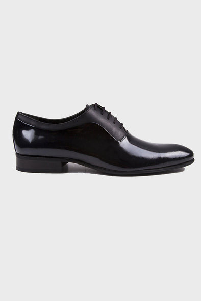 SAYKI Men's Classic Neolith Patent Black Leather Shoes