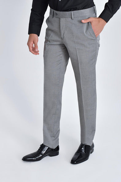 SAYKI Men's Slim Fit Light Grey Pants