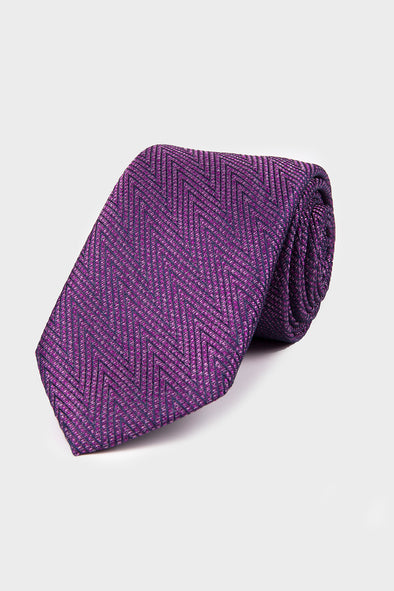 SAYKI Men's Purple Tie