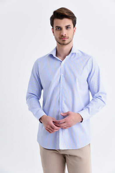SAYKI Men's Regular Fit Striped Shirt