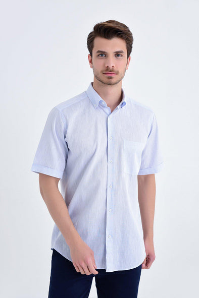 SAYKI Men's Regular Fit Short Sleeve Shirt