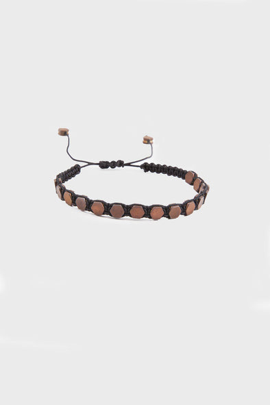 SAYKI Men's Copper Natural Stone Wristband