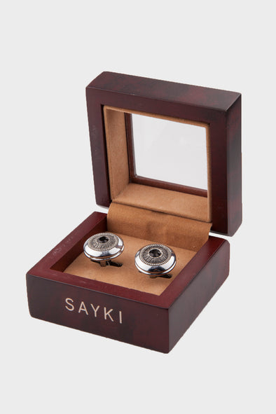 SAYKI Men's Metal Cufflinks