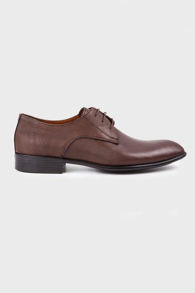 SAYKI Men's Classic Analin Brown Leather Shoes
