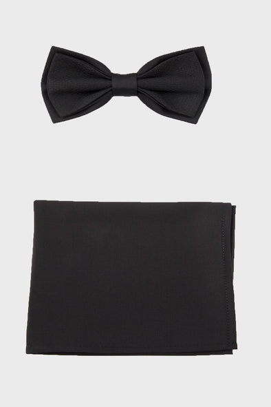 SAYKI Men's Bow Tie Pocket Square Set