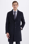 Sayki Men's Charcoal Overcoat
