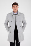 Sayki Men's Grey Overcoat