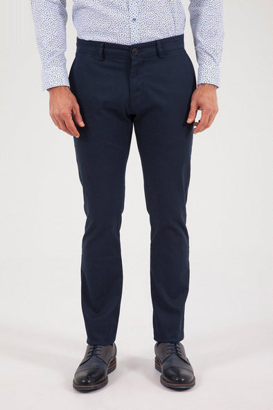 SAYKI Men's Slim Fit Navy Pant