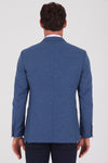 Sayki Men's Andrea Slim Fit Light Navy Blazer