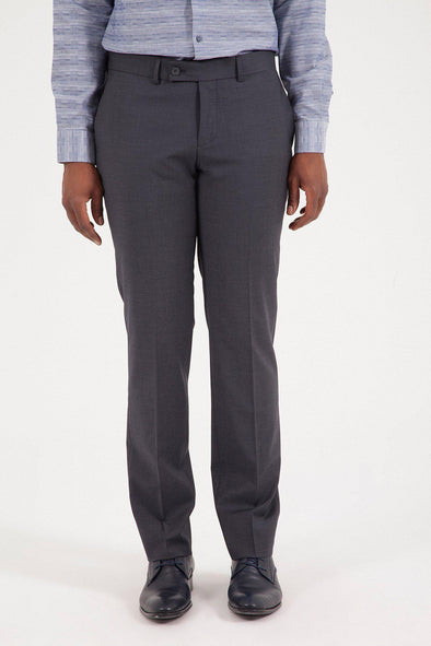 Sayki Men's Bocelli Slim Fit Grey Classic Pant