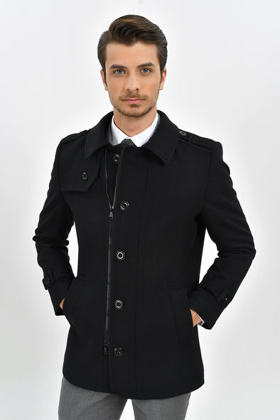 Sayki Men's Kyoto Black Coat