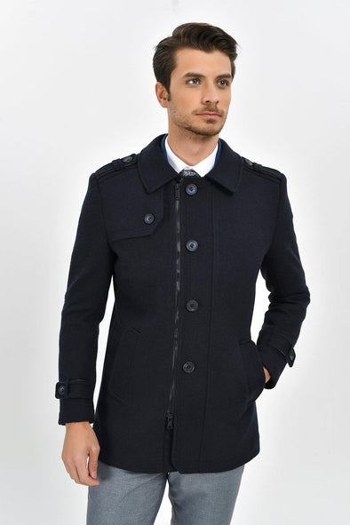 Sayki Men's Kyoto Navy Coat