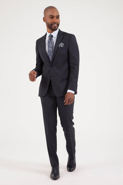 SAYKI Men's Slim Fit Wool Suit