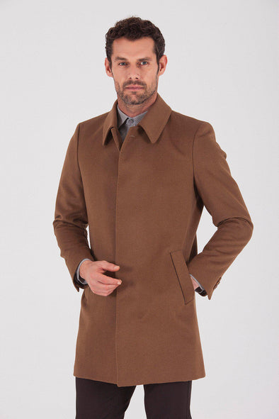 Sayki Men's Osaka Camel Overcoat