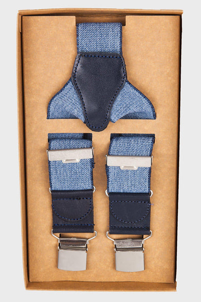 Sayki Men's Blue Suspender