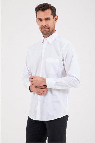 SAYKI Men's Classic Fit Cotton Shirt