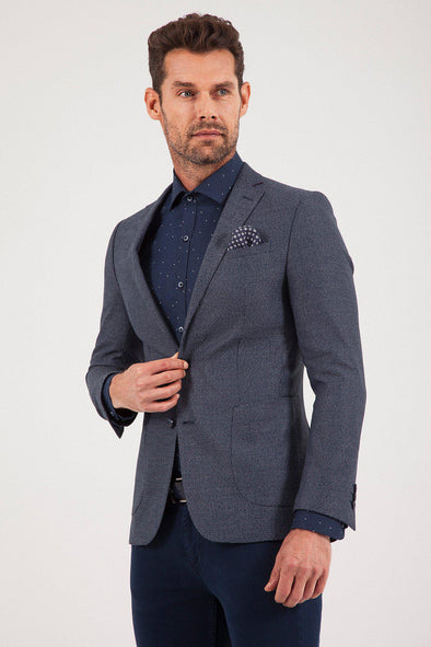 SAYKI Men's Lucas Single Breasted Slim Fit Blazer